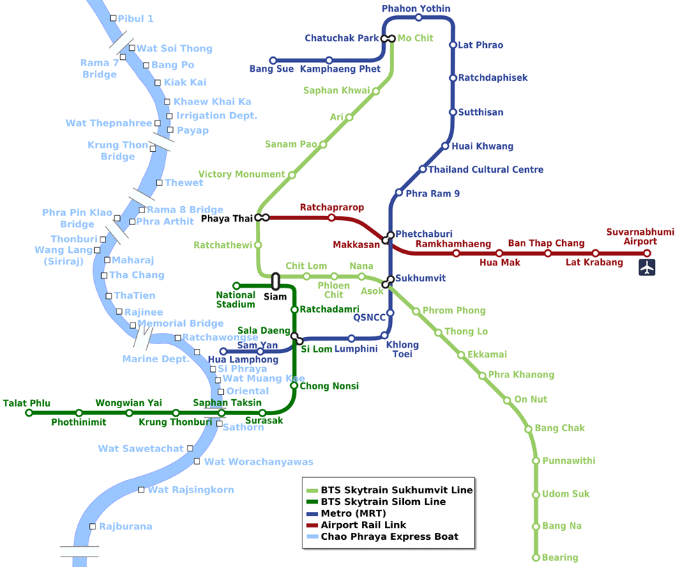 Bangkok Skytrain map