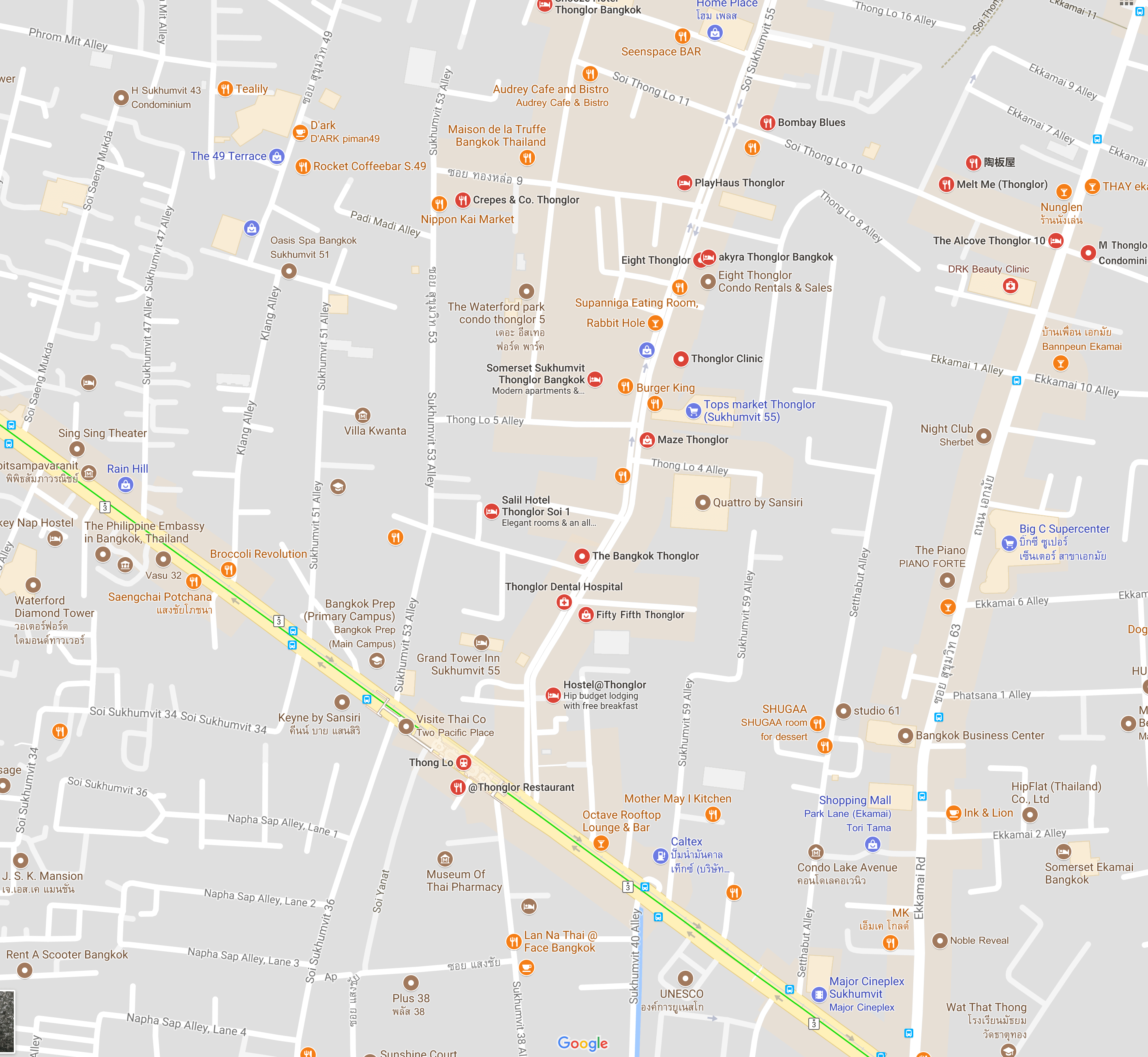 map of Thonglor